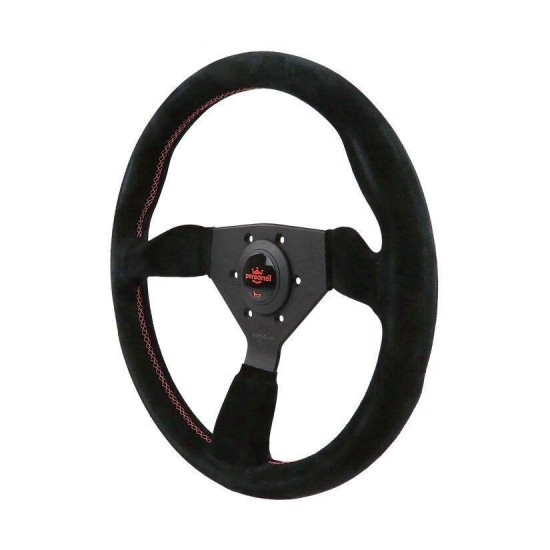 350MM PERSONAL NEO GRINTA SUEDE LEATHER STEERING WHEEL