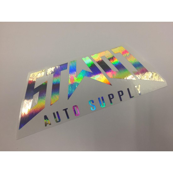6TWO1 Metal Auto Supply Sticker - Single Layer