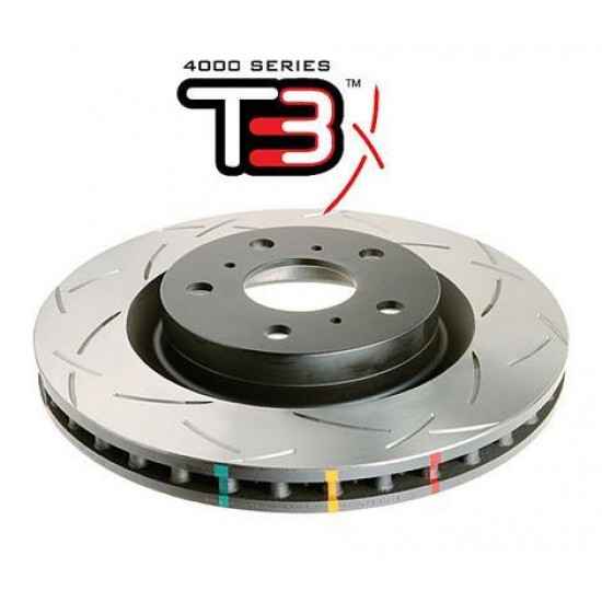 Front 277mm DBA disc brake - 4000 series - T3 Slotted