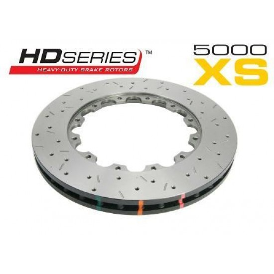 Front 295mm DBA disc brake - 5000 series - Replacement Rotor Only - XS Cross-Drilled & Slotted (replacement NAS lock nuts included)