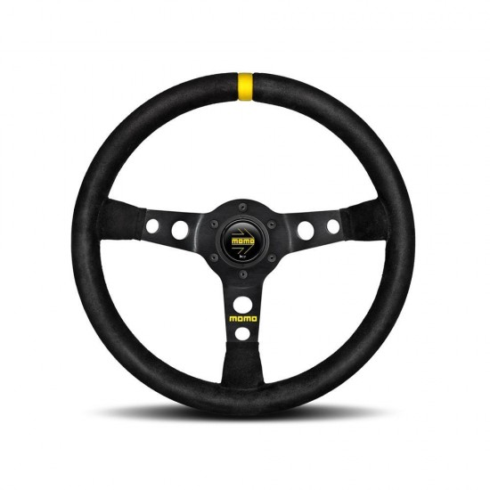 MOMO MOD.07 STEERING WHEEL - BLACK SUEDE 350MM